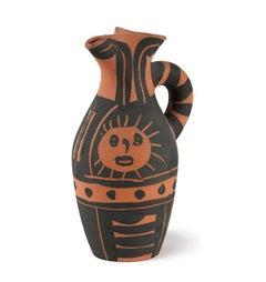 Pablo Picasso Madoura Ceramic Pitcher - Yan Soleil, Ramié 516
