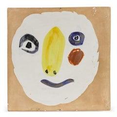 Pablo Picasso Madoura Ceramic Plaque - 'Tête polychrome'  Ramié 455