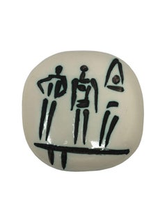 Pablo Picasso Madoura Ceramic Plaque - Trois personnages sur tremplin, Ramié 375