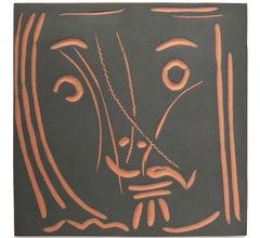 Pablo Picasso Madoura Ceramic Plaque - Visage de femme 'Pomone'  Ramié 591