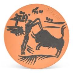 Pablo Picasso Madoura Ceramic Plate -  Banderilleros, Ramié 427