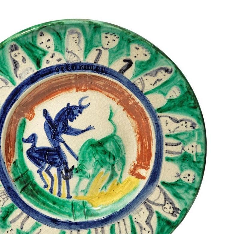 Pablo Picasso Madoura Ceramic Plate -'Corrida aux personnages,' Ramié 104 - Abstract Print by Pablo Picasso