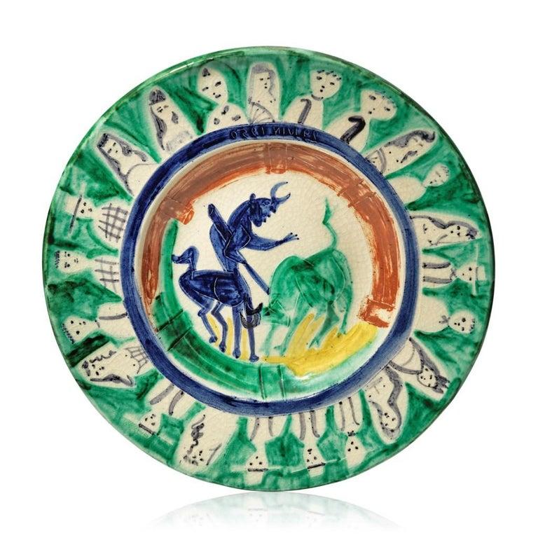 Pablo Picasso Madoura Ceramic Plate -'Corrida aux personnages,' Ramié 104 - Print by Pablo Picasso