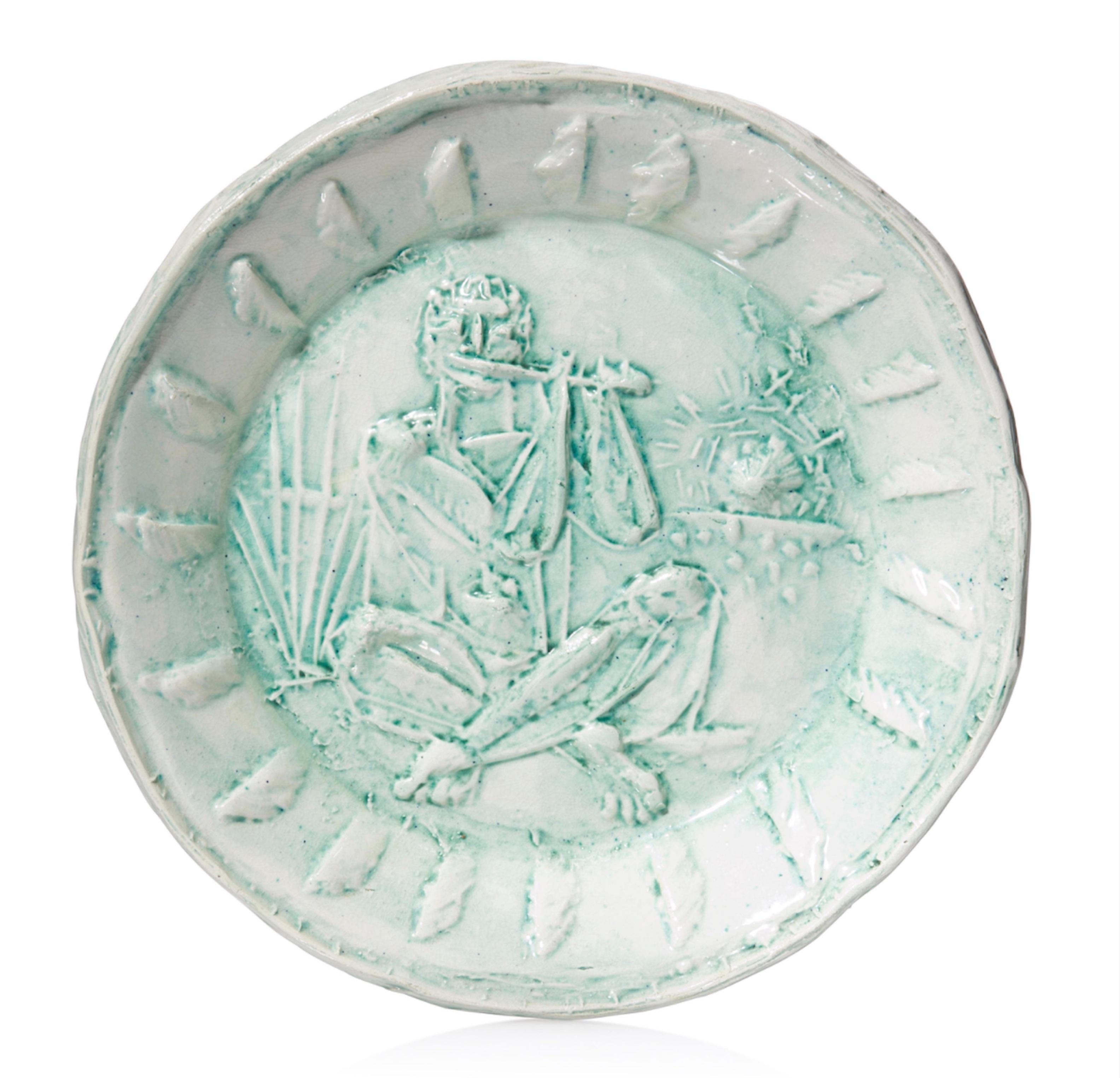 Pablo Picasso Madoura Ceramic Plate 'Joueuer de Flute' Ramié 128