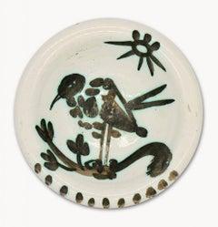 Pablo Picasso Madoura Ceramic Plate - Oiseau au soleil Ramié 174