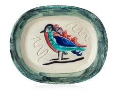 Pablo Picasso Madoura Ceramic Plate 'Oiseau polychrome' Ramié 33