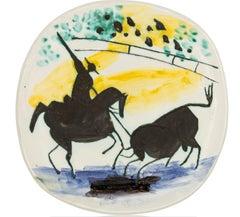 Pablo Picasso Madoura Ceramic Plate - Picador et taureau Ramié 197