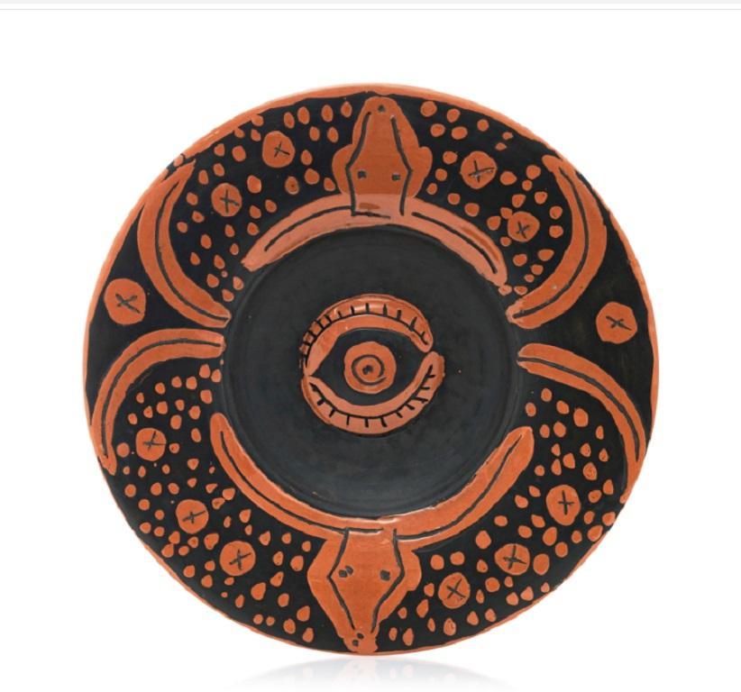 Pablo Picasso Madoura Ceramic Plate -  Plat espagnol au toros, Ramié 403