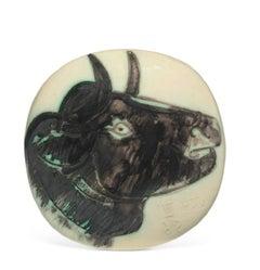 Pablo Picasso Madoura Ceramic Plate -'Profil de taureau ' Ramié 317