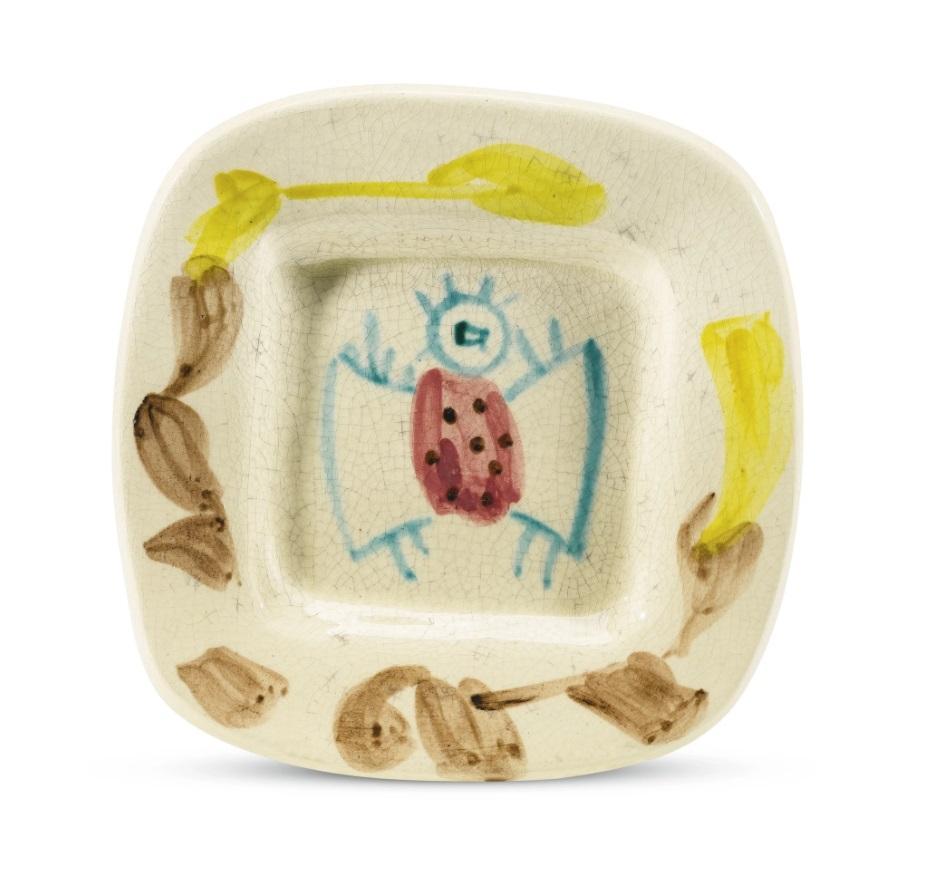 Pablo Picasso Madoura Ceramic Plate -'Service fruits de provence' Ramié 73