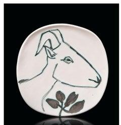 Pablo Picasso Madoura Ceramic Plate -'Tête de Chèvre de Profil' Ramié 106
