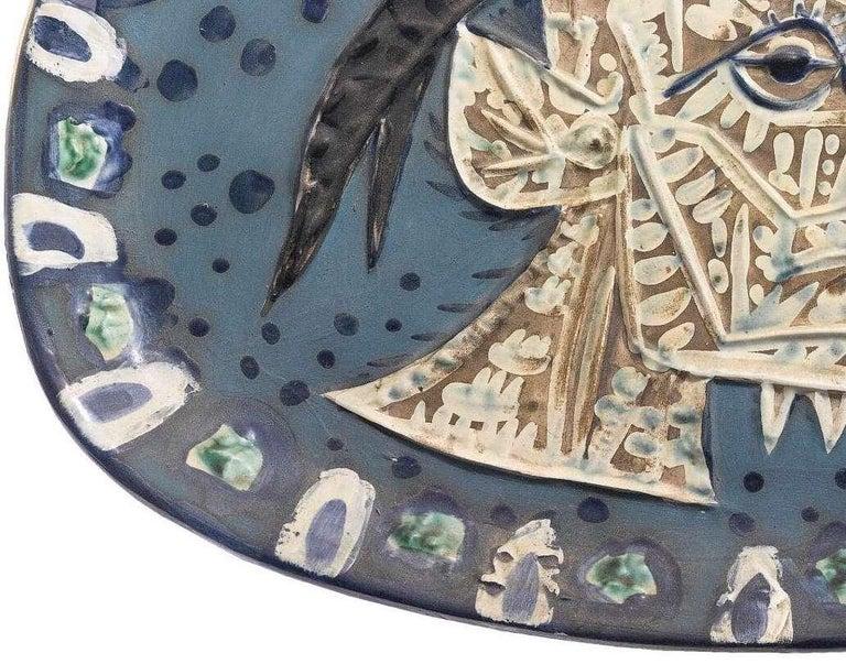 Pablo Picasso Madoura Ceramic Plate -'Tête de chèvre de profil,' Ramié 145 - Abstract Print by Pablo Picasso