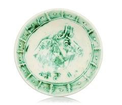 Pablo Picasso Madoura Ceramic Plate- Tête de taureau, Ramié 232