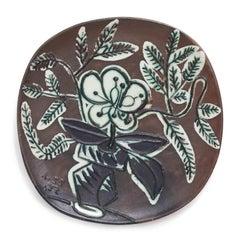 Pablo Picasso Madoura Ceramic Plate - Vase au bouquet Ramié 303