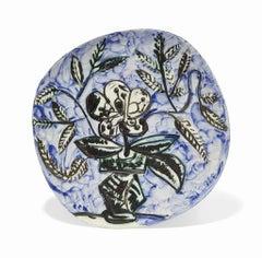 Pablo Picasso Madoura Ceramic Plate - Vase Au Bouquet  Ramié 304