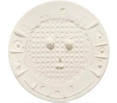 Pablo Picasso Madoura Ceramic Plate - Visage à la grille Ramié 351