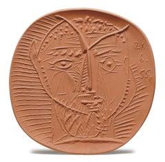 Pablo Picasso Madoura Ceramic Plate - Visage de faune, Ramié 282