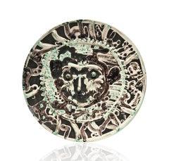 Pablo Picasso Madoura Ceramic Plate - Visage de Faune Tourmenté Ramié 320