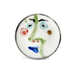 Pablo Picasso Madoura Ceramic Plate - Visage no. 189 Ramié 491