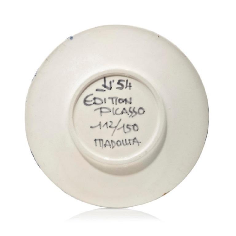 Pablo Picasso Madoura Ceramic Plate -  Visage No. 54, Ramié 467 - Abstract Expressionist Sculpture by Pablo Picasso
