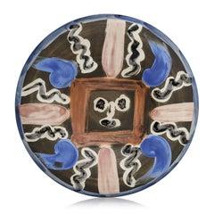 Pablo Picasso Madoura Ceramic Plate -  Visage No. 54, Ramié 467