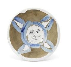 Pablo Picasso Madoura Ceramic Plate - Visage No. 72  Ramié 474