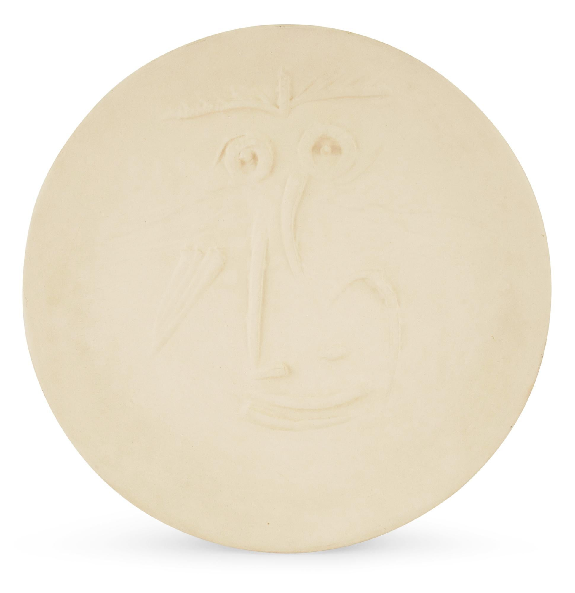 Pablo Picasso Madoura Ceramic Plate 'Visage' Ramié 445