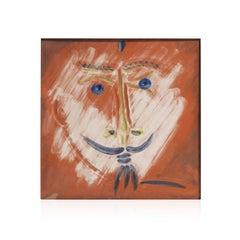 Pablo Picasso Madoura Ceramic Tile -Visage à la barbiche Ramié 601