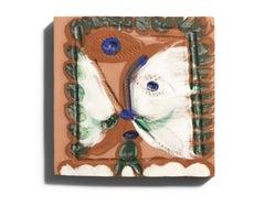 Pablo Picasso Madoura Ceramic Tile -'Visage Cubiste,' Ramié 568