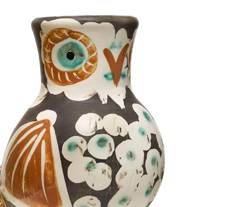 Pablo Picasso Madoura Ceramic Vase-'Chouette,' Ramié 543 - Abstract Print by Pablo Picasso