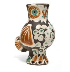 Pablo Picasso Madoura Ceramic Vase-'Chouette,' Ramié 543