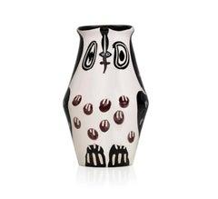 Pablo Picasso Madoura Ceramic Vase- Hibou marron noir Ramié 123
