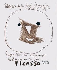 """Pablo Picasso-Maison de la Pensee Francaise-25.5"""" x 18.75""""-Lithograph-1958"""