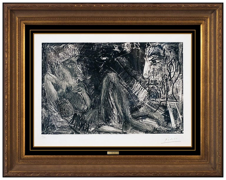 Pablo Picasso Original Etching Etching Nude Female Portrait Hand Signed Cubism - Print by Pablo Picasso
