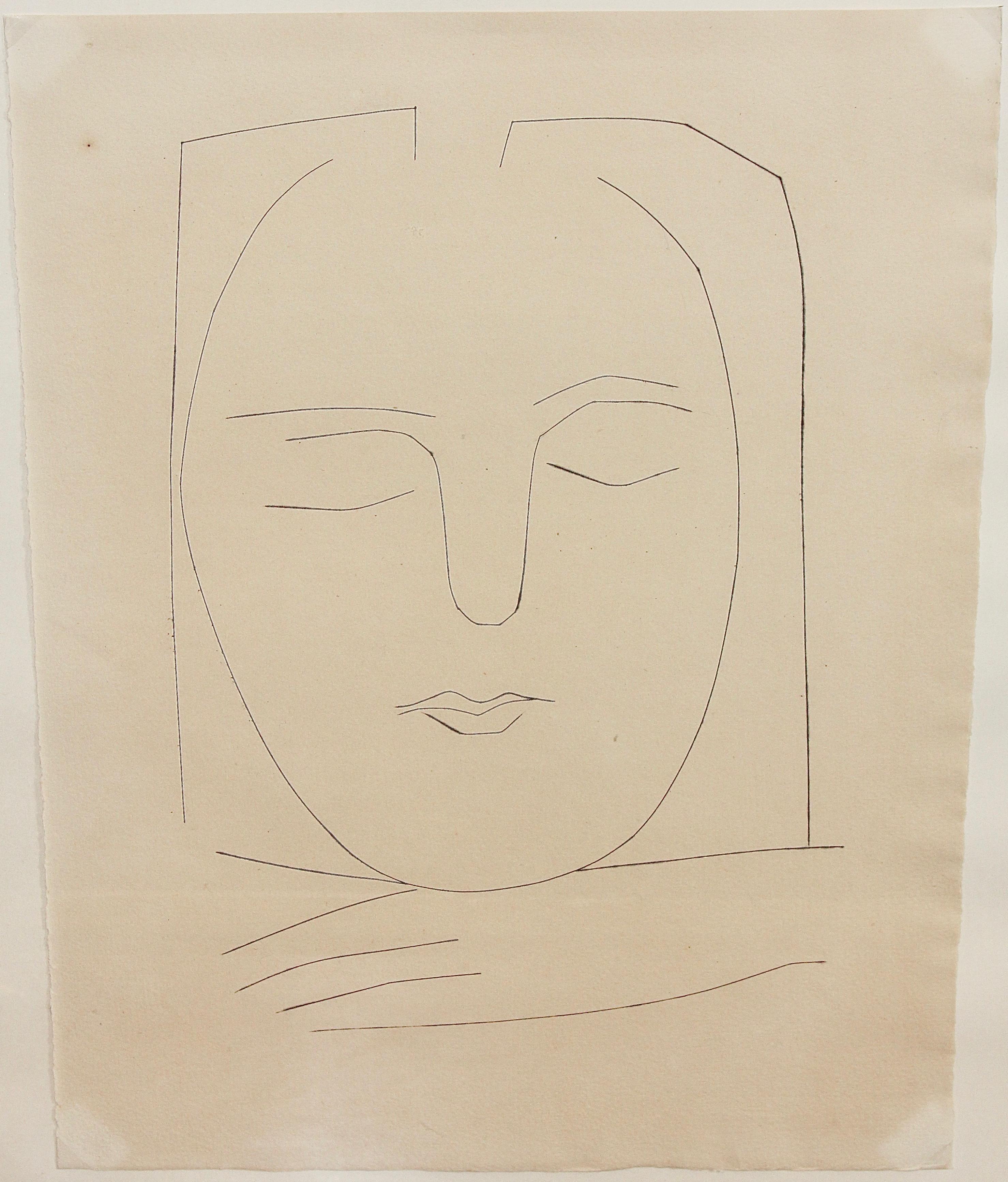 "Pablo Picasso, original etching No. 310 from ""Carmen"" 1949, Block 531-568"