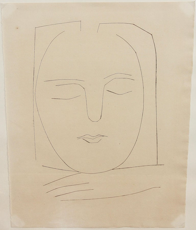 """Pablo Picasso, original etching No. 310 from """"Carmen"""" 1949, Block 531-568 - Print by Pablo Picasso"""