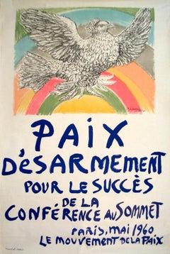 """Paix Disarmement-Peace-47"""" x 31.5""""-Lithograph-1960-Cubism"""