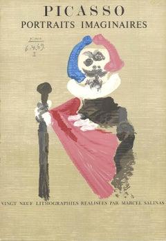 """Pablo Picasso-Portraits Imaginaires-29.25"""" x 20.25""""-Lithograph-1969-Cubism"""