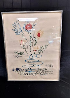 PABLO PICASSO  PRINT Flower 1961
