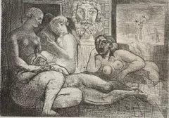 """Pablo Picasso, """"Quatre Femmes nues et Tete sculptee"""", Vollard Suite"""