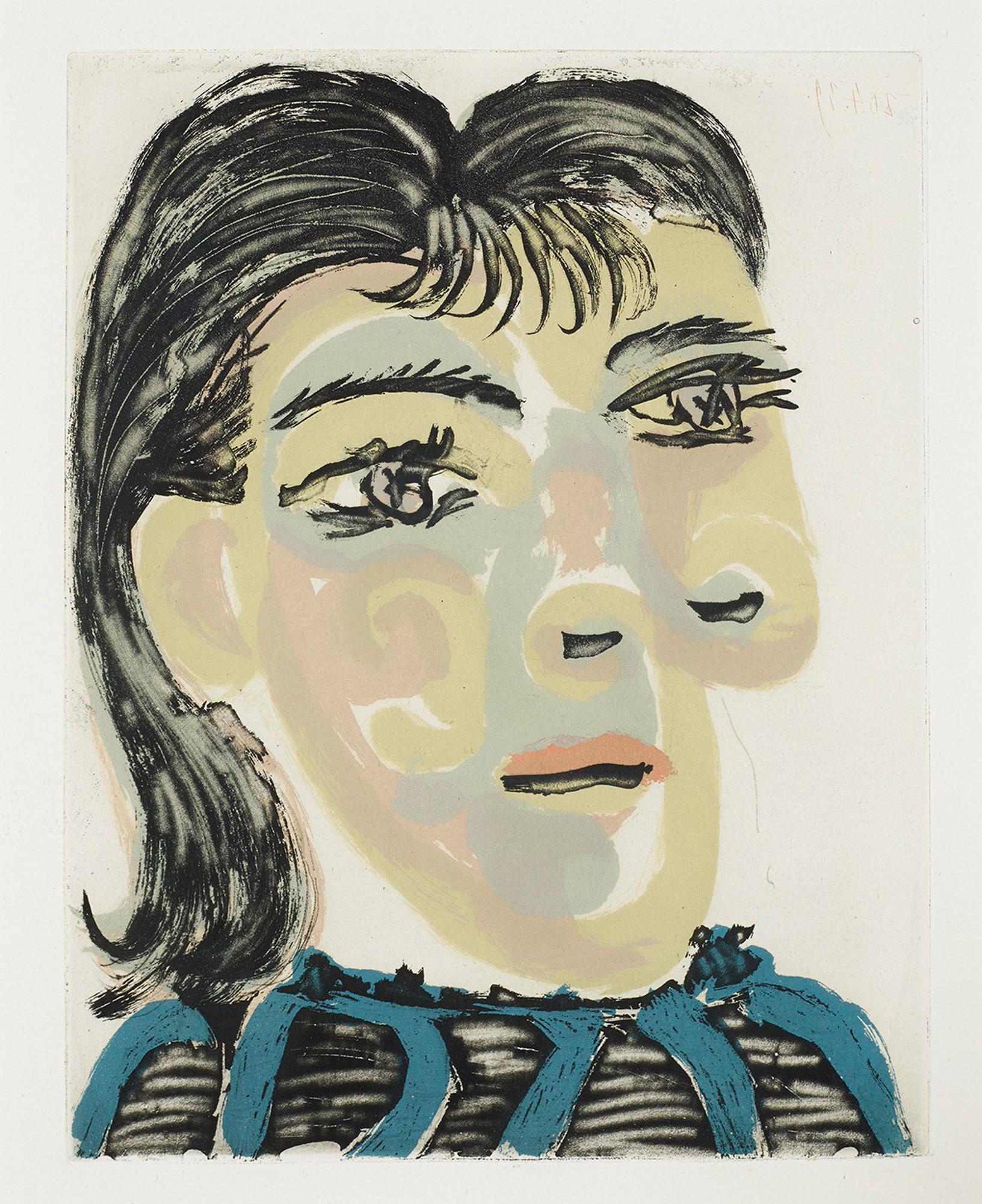 Pablo Picasso: Tête de Femme No. 2.  Portrait de Dora Maar (B1340)