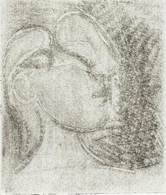 Pablo Picasso: Tête de femme tournée à droite (Bloch 252)