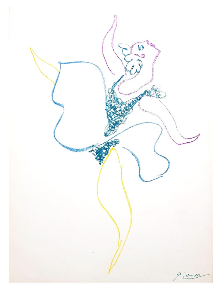 Pablo Picasso - Original Lithograph Title: The Ballet Dancer  Dimensions: 32 x 24 cm 1954 Reference: Bloch 767 Frontispiece for the book