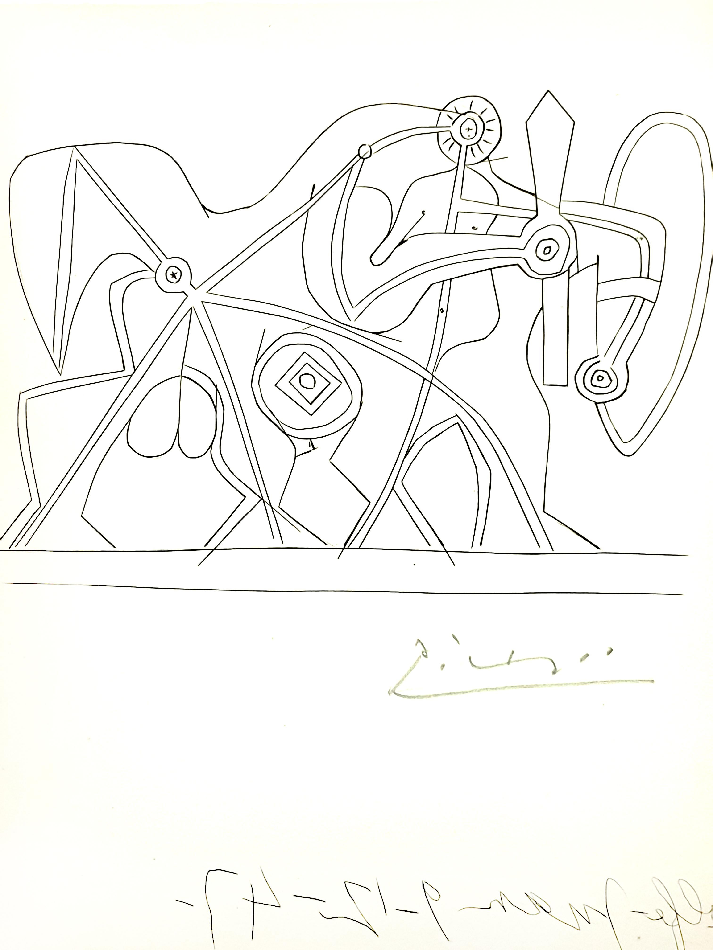 Pablo Picasso - The Knight - Original Handsigned Etching