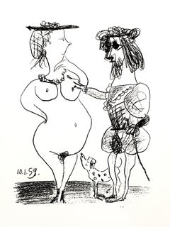 Pablo Picasso - The Lord and the Lady - Original Lithograph