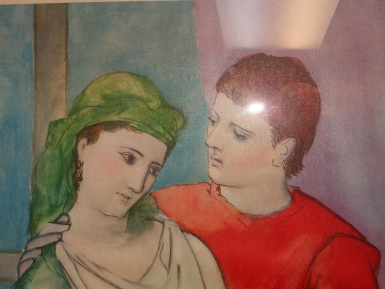 PABLO PICASSO THE LOVERS VINTAGE PRINT For Sale 7