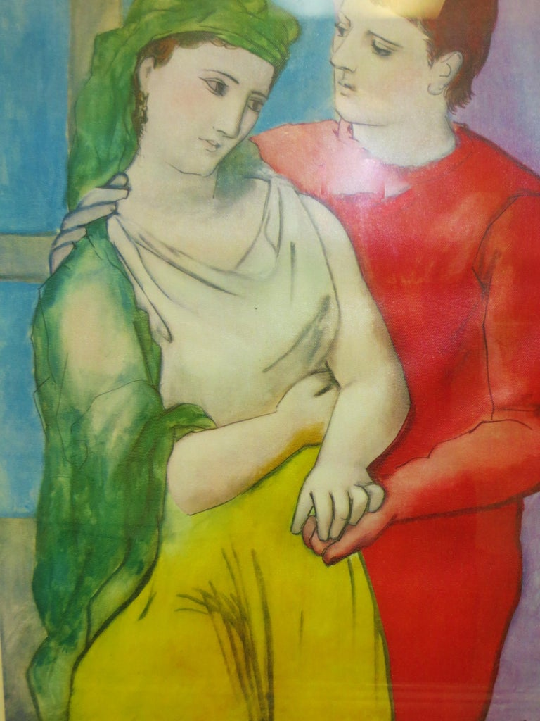 PABLO PICASSO THE LOVERS VINTAGE PRINT - Cubist Print by Pablo Picasso