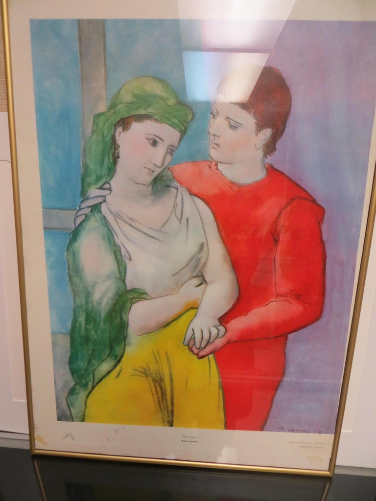 PABLO PICASSO THE LOVERS VINTAGE PRINT For Sale 1