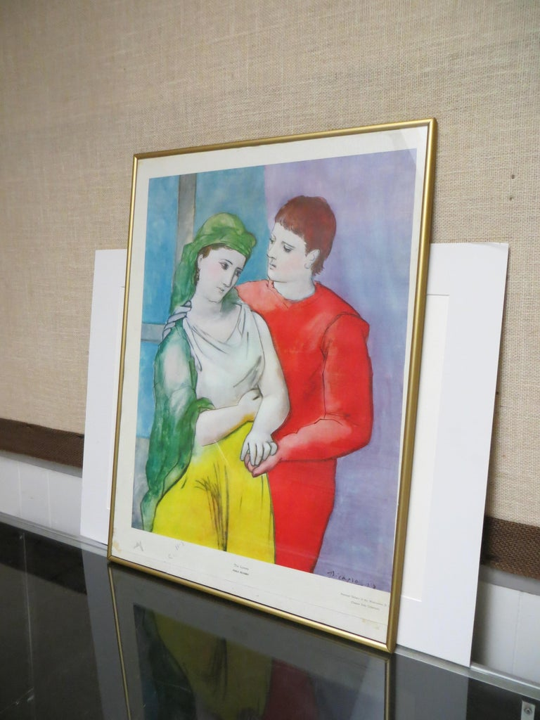 PABLO PICASSO THE LOVERS VINTAGE PRINT For Sale 4