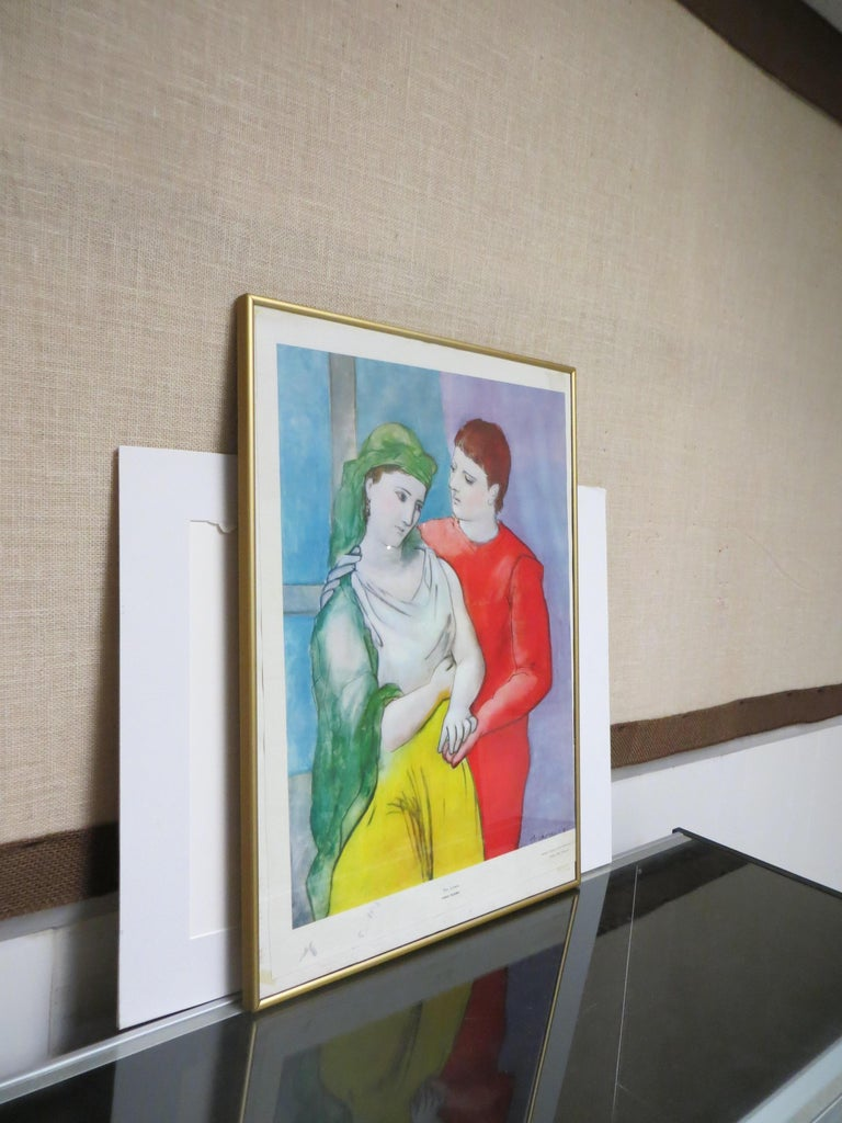 PABLO PICASSO THE LOVERS VINTAGE PRINT For Sale 5
